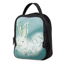 Angora fluff Neoprene Lunch Bag
