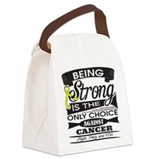 Testicular Cancer Strong Canvas Lunch Bag