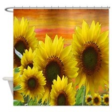 Fall Sunflowers Shower Curtain