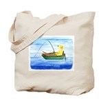 Labrador Fishing Dog Tote Bag