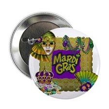 "Mardi Gras 2.25"" Button (10 pack)"