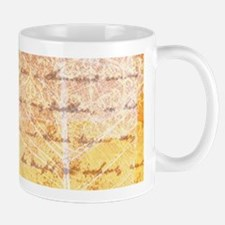 gold leaves and script Mugs