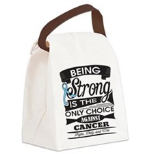 Prostate Cancer Strong Canvas Lunch Bag