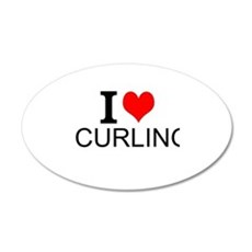 I Love Curling Wall Decal