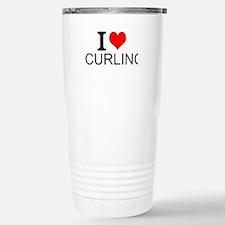 I Love Curling Travel Mug
