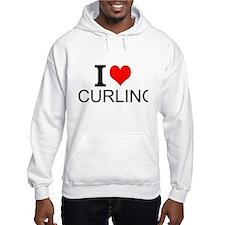 I Love Curling Hoodie