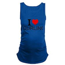 I Love Curling Maternity Tank Top
