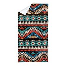 Vintage Aztec Pattern Beach Towel