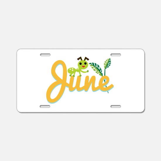 June Ant Aluminum License Plate
