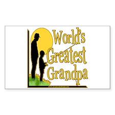 World's Greatest Grandpa Rectangle Sticker