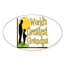 World's Greatest Grandpa Oval Sticker
