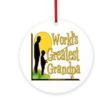 World's Greatest Grandpa Ornament (Round)