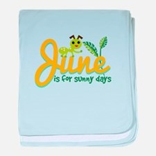 Sunny Days baby blanket