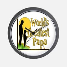 World's Greatest Papa Wall Clock