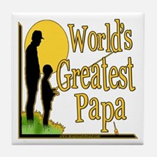 World's Greatest Papa Tile Coaster