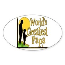 World's Greatest Papa Oval Decal