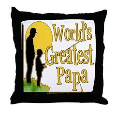 World's Greatest Papa Throw Pillow