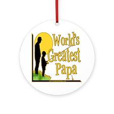 World's Greatest Papa Ornament (Round)