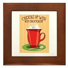 Cuddle Up With Hot Chocolate Framed Tile
