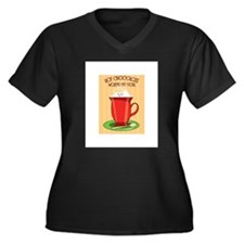 Hot Chocolate Warms My Soul Plus Size T-Shirt