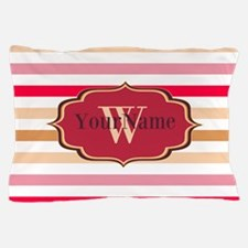 Monogram Multicolored Stripes Pillow Case
