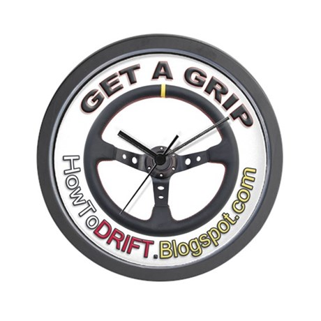 Get A Grip Wall Clock by getagripdrift