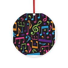 Music notes Band Choir Ornament (Round)