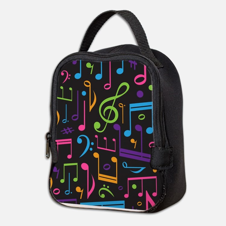 Music notes Band Choir Neoprene Lunch Bag