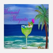 Mermaid Margarita Art Tile Coaster