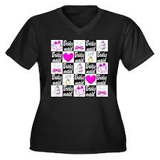 STYLISH BRID Women's Plus Size V-Neck Dark T-Shirt
