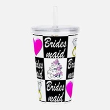 STYLISH BRIDESMAID Acrylic Double-wall Tumbler