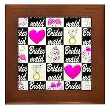 STYLISH BRIDESMAID Framed Tile