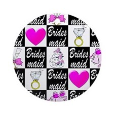 STYLISH BRIDESMAID Ornament (Round)
