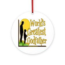 World's Greatest Godfather Ornament (Round)