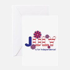 July Independence Greeting Cards
