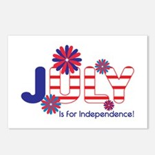 July Independence Postcards (Package of 8)