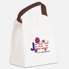 July Independence Canvas Lunch Bag