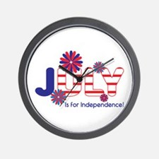 July Independence Wall Clock