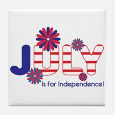 July Independence Tile Coaster