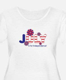July Independence Plus Size T-Shirt