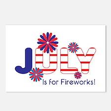 July Fireworks Postcards (Package of 8)