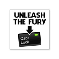Unleash the Fury Caps Lock Sticker