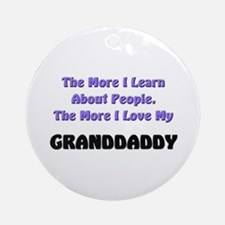 more I learn about people, more I love my GRANDDAD