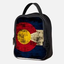Vintage Grunge Colorado Flag Neoprene Lunch Bag