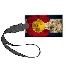 Vintage Grunge Colorado Flag Luggage Tag