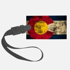 Vintage Grunge Colorado Flag Luggage Tag