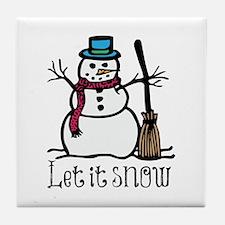 Snow Man Tile Coaster