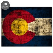 Vintage Grunge Colorado Flag Puzzle