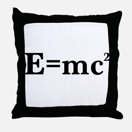 E equals MC squared Throw Pillow