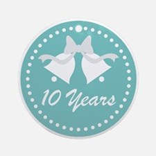 10th Anniversary Wedding Bells Ornament (Round)